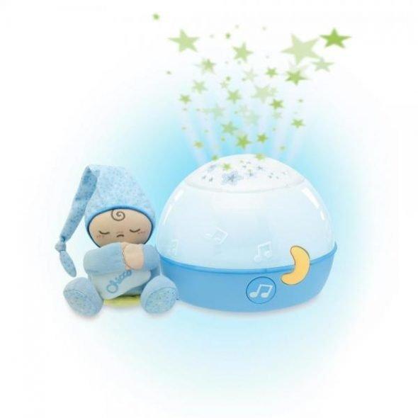 Jucarie Chicco lampa cu proiectie Primele Vise Noapte buna stelute! Bleu 0luni+